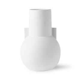 Matt white vase S