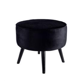 Footstool Tess zwart
