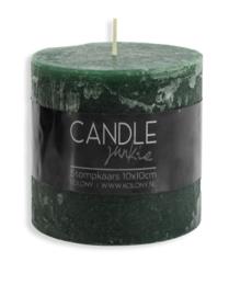 Candle junkie donker groen 10 cm