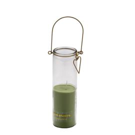Candle tube Frank groen