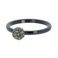 1 ball fill clear crystal zwart