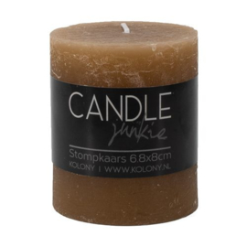 Candle junkie taupe 8cm
