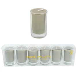 votive candle taupe