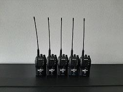 Analoge Set UHF/VHF 5 stuks dag prijs 45,-