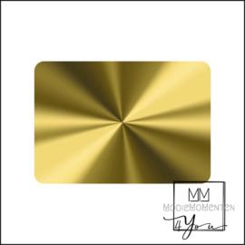 MM4Y Blanco stickers goud rechtkant