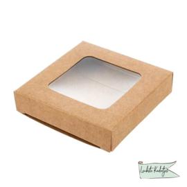 Kraftdoosjes met Venster 7x1,4x6,8cm