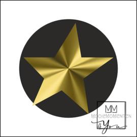 Semi stickers ster Goud Zwart