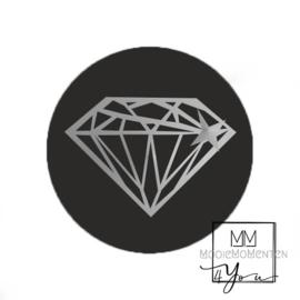Rond Diamant Zilver