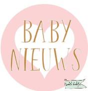 Sluitsticker op rol 30mm rond Baby nieuws