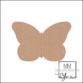 Vorm Stickers vlinder 57mm x 38mm Kraft