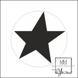 Semi stickers ster Zwart