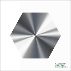 Hexagon stickers Zilver