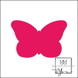 Vorm Stickers vlinder 57mm x 38mm Roze