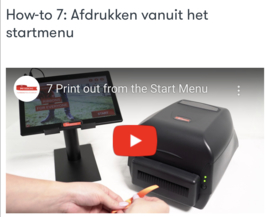 How-to 7: Afdrukken vanuit het startmenu