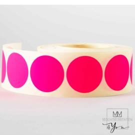 25mm Rond Fluor Pink