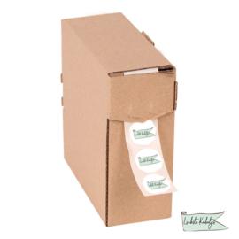 Etiketten dispenser doosje Maat M