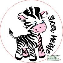Sluitsticker op rol 50mm Baby Zebra stoer J/M