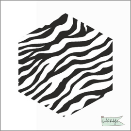 Hexagon stickers Zebra
