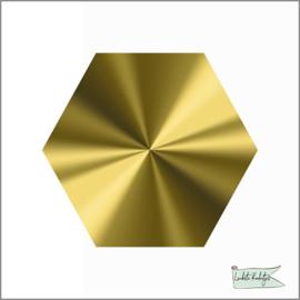 Hexagon stickers Goud