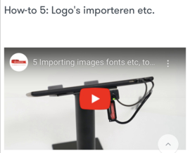 How-to 5: Logo's importeren etc.
