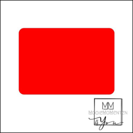 Blanco  fluor oranje rechtkant stickers