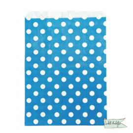 Papieren zakjes stippen Blauw Maat S