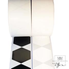 Blanco stickers Hexagon