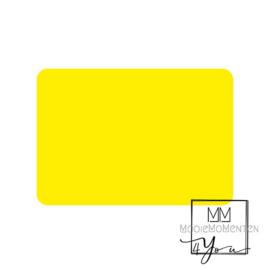 Blanco  fluor geel  rechtkant stickers
