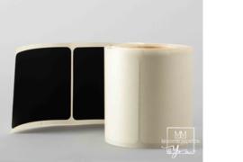 80mm x 80 mm Bordkrijt Zwart Vierkant