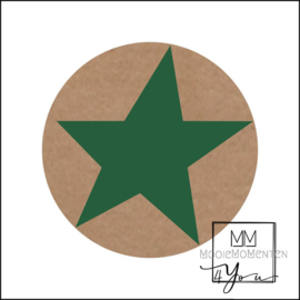 Semi stickers ster Groen Kraft