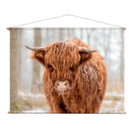 Textielposter Schotse Hooglander Jong
