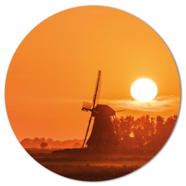 Muurcirkel Molen Zonsondergang
