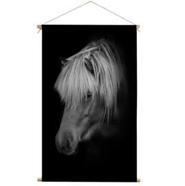 Textielposter Paard Black