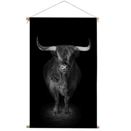 Textielposter Schotse Hooglander Black
