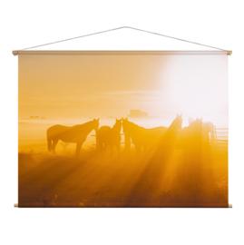 Textielposter Paarden Mist
