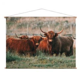 Textielposter Schotse Hooglanders