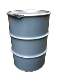 Open top 60 liter drum Grey