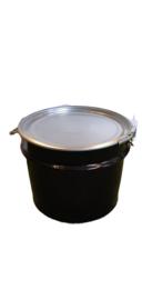 Open top 32 liter drum black