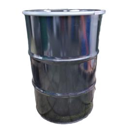 Open top 210 liter drum black