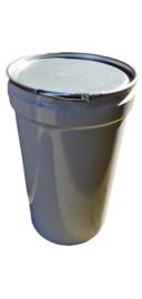 Metalen 120 liter conische wit