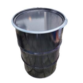 Metalen 200 liter zwart