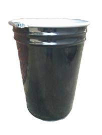 Open top 100 liter drum conical Black