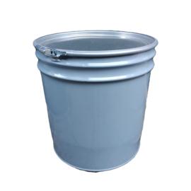 Open top 70 liter drum conical Grey