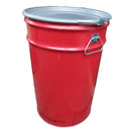 Metalen 60 liter rood conische
