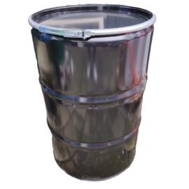 Open top 210 liter drum black coating