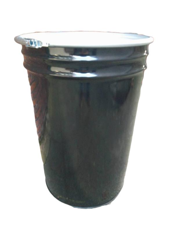 Metalen 100 liter zwart conische