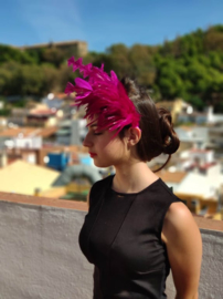 Headdress Fuchsia Feathers