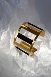Gold & Black Bracelet by Ammo