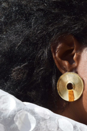 """Earclips """"Athena"""" in safran, by Ammo"""