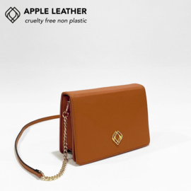 Clutch Apple Leather Ginger